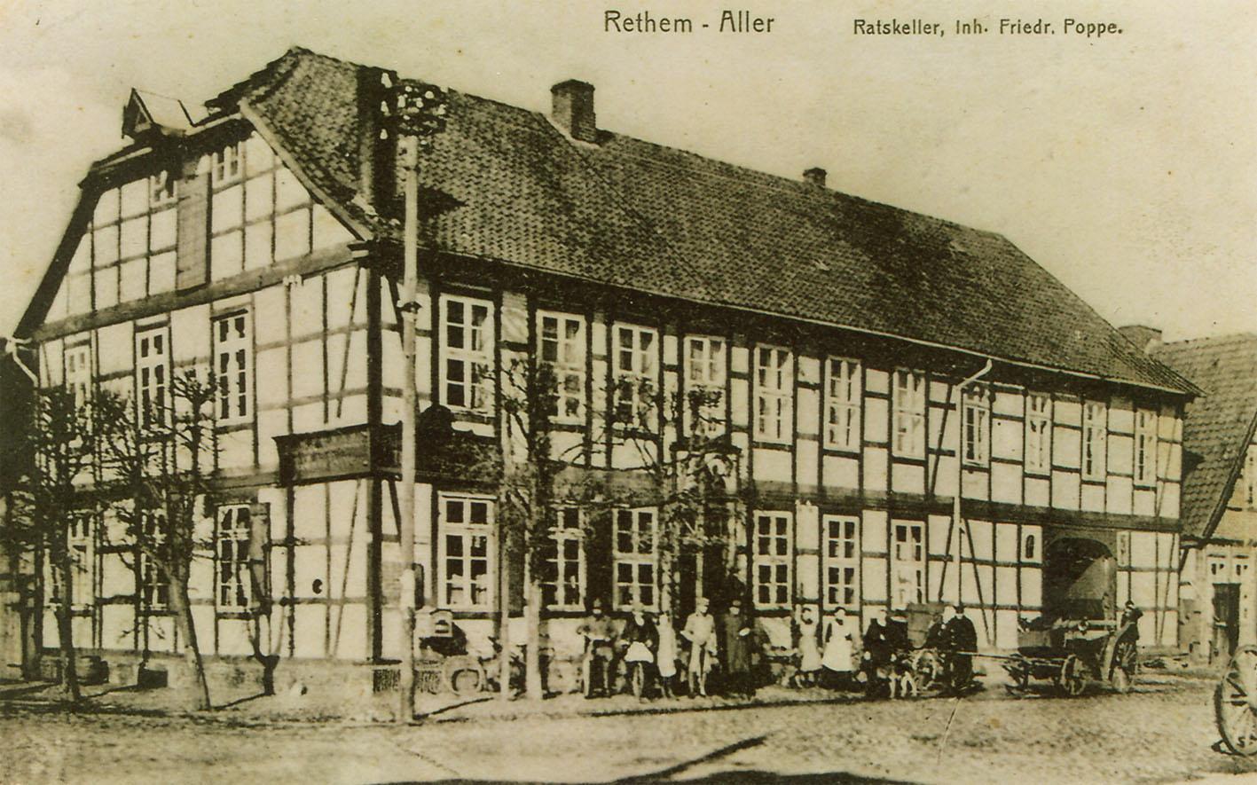 Der Ratskeller um 1900 / Bild: Stadtarchiv Rethem